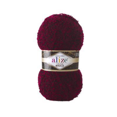 Alize Boucle 6031 Красный Меланж