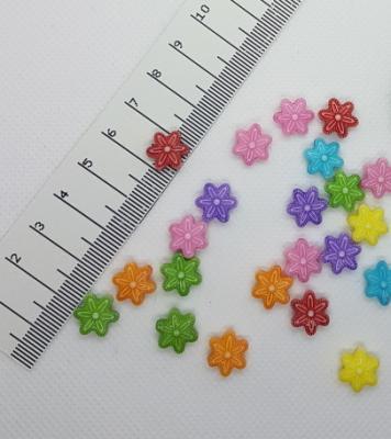 Акриловая бусина Цветок 12 x 11 мм
