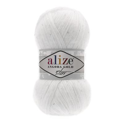 Alize Angora gold Star 55 White (белый)