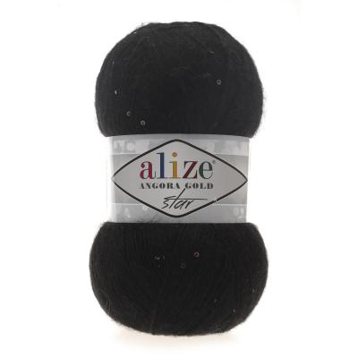 Alize Angora gold Star 60 Black (черный)