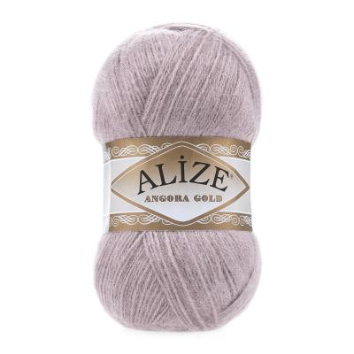 Alize Angora gold 163 Rose Grey (серая роза)