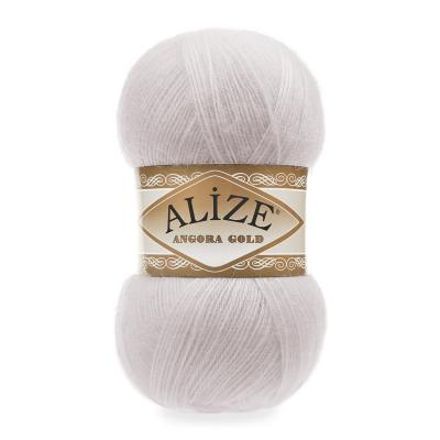 Alize Angora gold 168 white winter (белая зима)