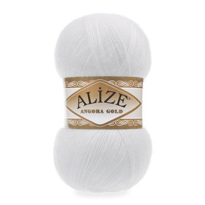 Alize Angora gold 55 White (белый)