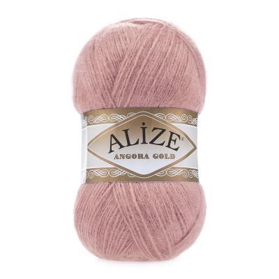 Alize Angora gold 144 Salmon Pink (темная пудра)