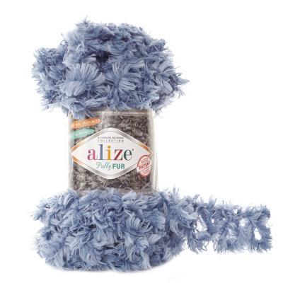 Alize Puffy fur 6106 лазурь
