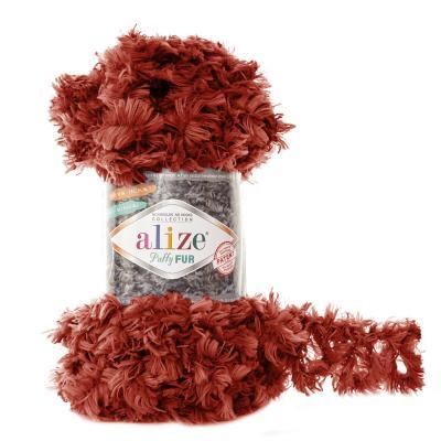 Alize Puffy fur 6118 терракот