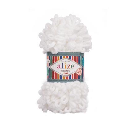Alize Puffy fine 55 White (белый)