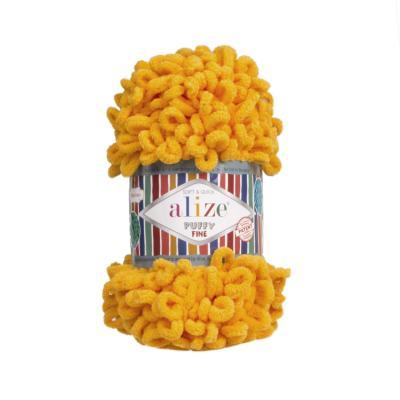 Alize Puffy fine 82 mustard (солнечный)