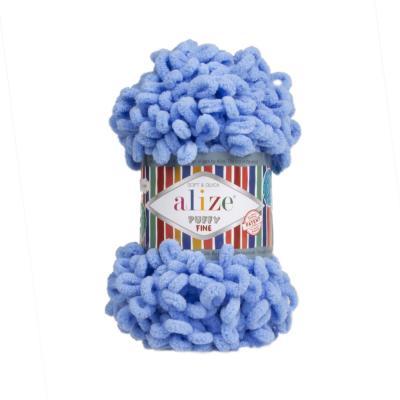 Alize Puffy fine 112 blue (голубой)