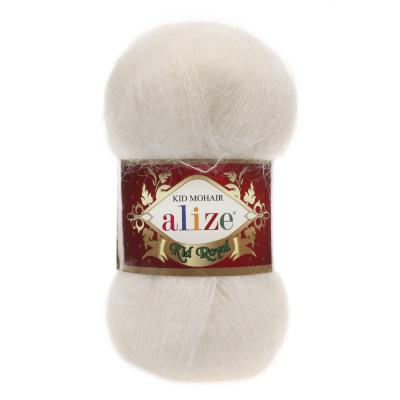 Alize Mohair Kid Royal 50 62 Cream (молоко)