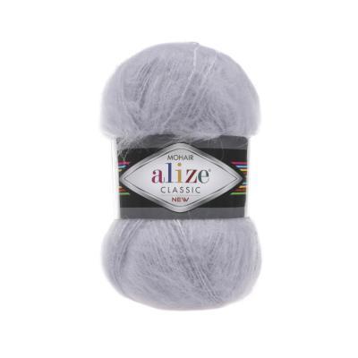 Alize Mohair classic 52 Light Grey (талая вода)