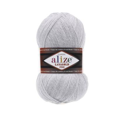 Alize Lanagold fine 684 пепельный меланж