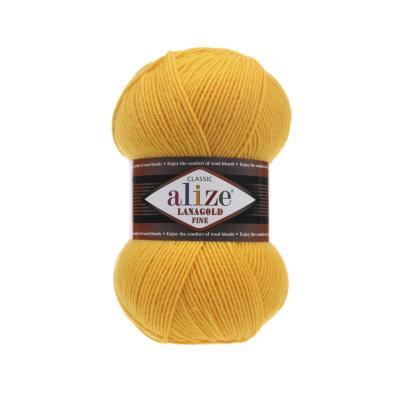 Alize Lanagold fine 216 Yellow (желтый)