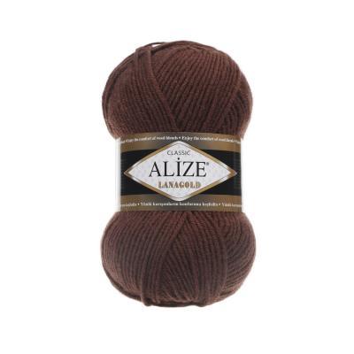 Alize Lanagold 583 Cinnamon (каштановый)