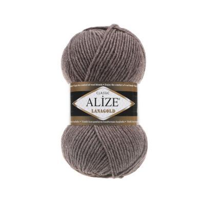 Alize Lanagold 240 Brown Melange (коричневый меланж)