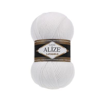 Alize Lanagold 55 White (белый)