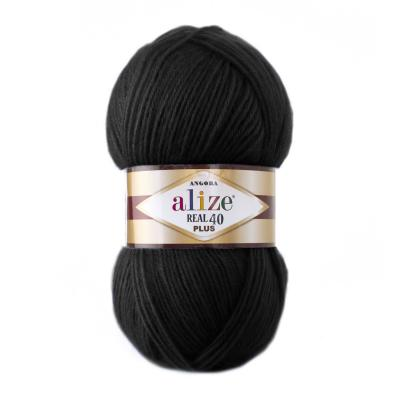Alize Angora Real 40 plus 60 Black (черный)