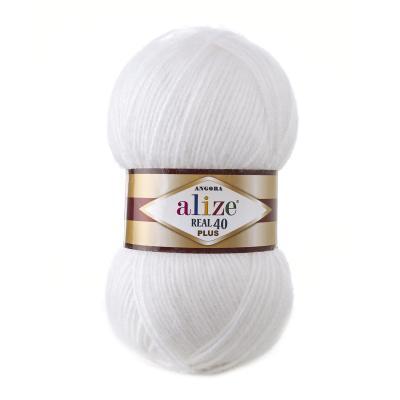 Alize Angora Real 40 plus 55 White (белый)