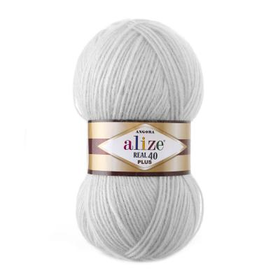 Alize Angora Real 40 plus 21 Grey (серый)