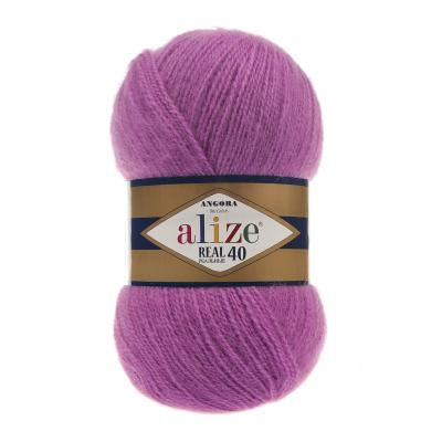 Alize Angora Real 40 46 темно-розовый
