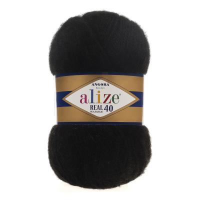 Alize Angora Real 40 60 черный