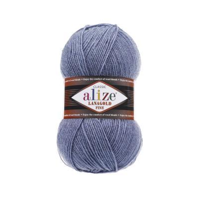 Alize Lanagold fine 203 Denim Melange (джинс меланж)
