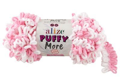 Alize Puffy More 6267 неж.розовый/белый