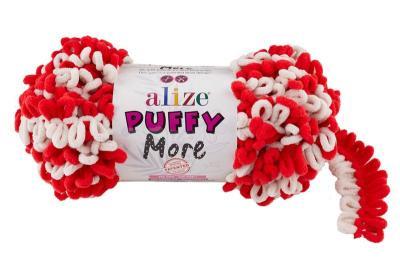 Alize Puffy More 6286 красный/белый