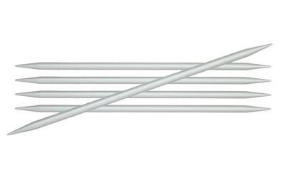 45103 Knit Pro Спицы чулочные Basix Aluminum 3 мм/15 см, алюминий, серебристый 5 шт.
