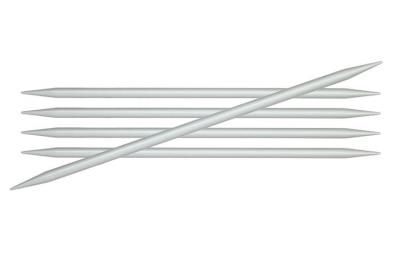 45104 Knit Pro Спицы чулочные Basix Aluminum 3,5 мм/15 см, алюминий, серебристый 5 шт.