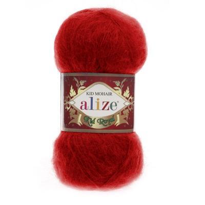 Alize Mohair Kid Royal 50 56 красный